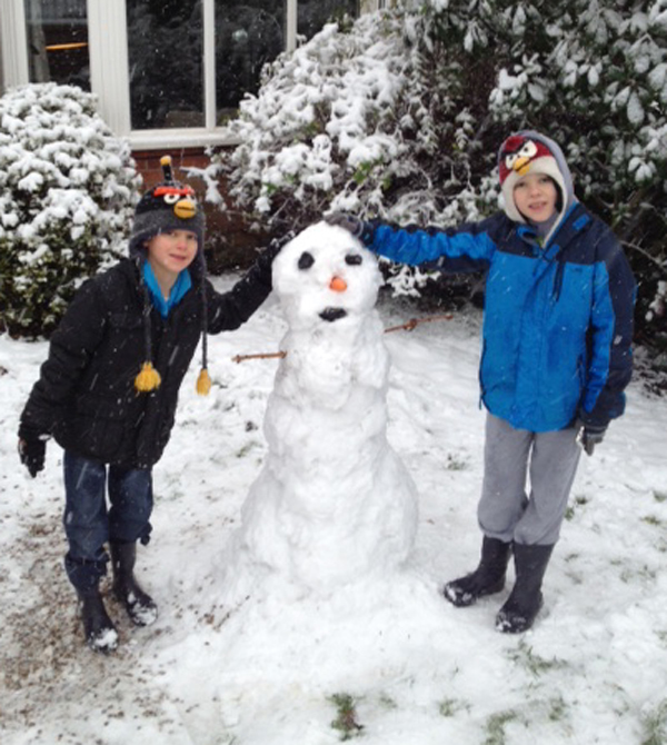 Daily Echo: A snowman sent in by Paddy.