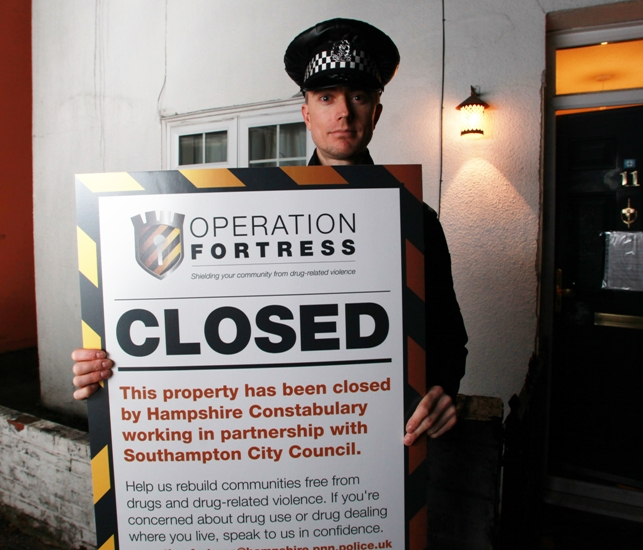 SHUT DOWN: Police close Southampton crack den