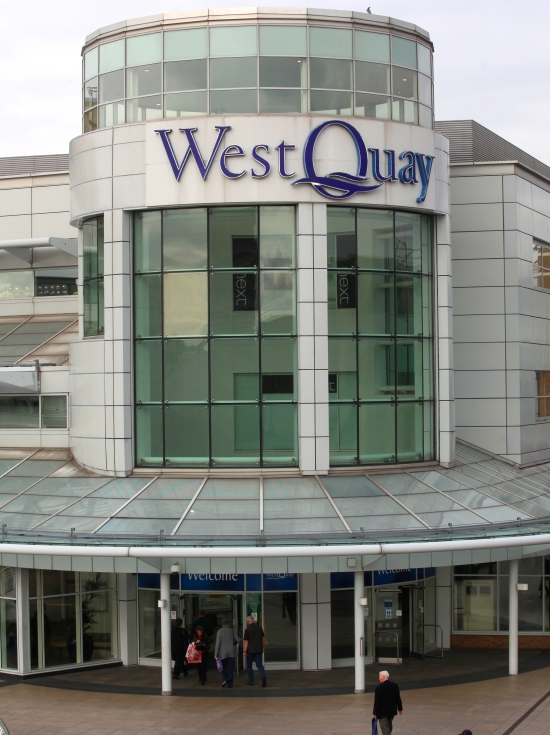 Shoppers evacuated from fire at WestQuay shopping centre