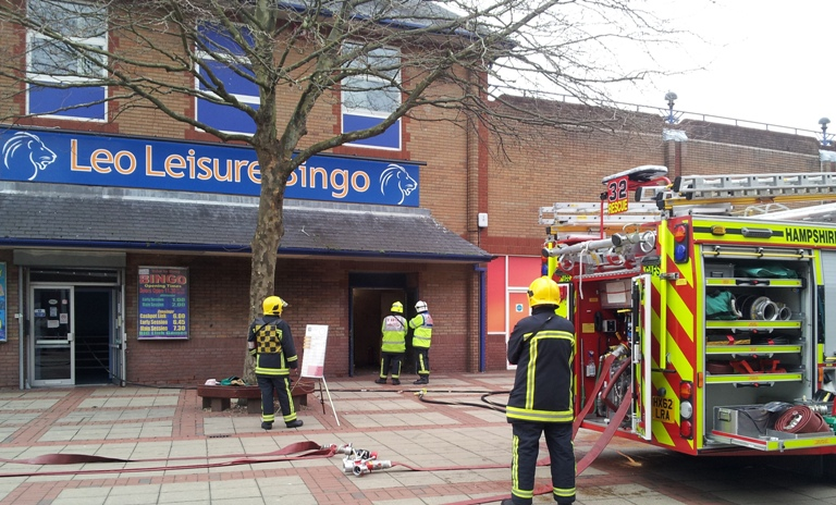 Shoppers evacuated in fireball drama - VIDEO