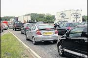 Traffic delays on major route