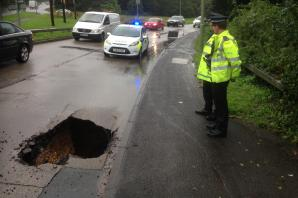 Sinkhole in major road 'will take a week to repair'